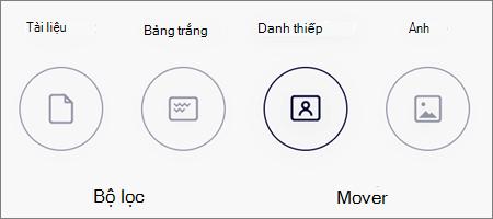 Tùy chọn chế độ để quét ảnh trong OneDrive for iOS