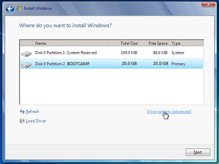 Cài đặt Windows 7 trên máy Mac bằng Boot Camp