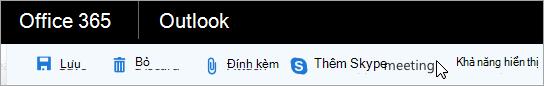 Thêm cuộc họp Skype vào email của bạn
