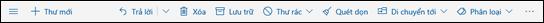 Thanh công cụ tin nhắn Outlook.com