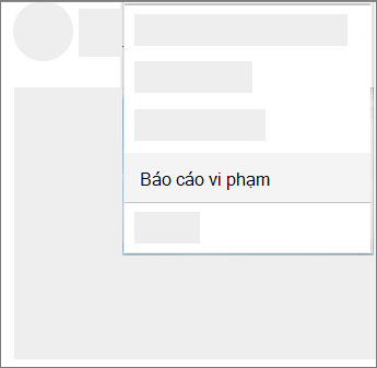 Ảnh chụp màn hình về cách để báo cáo lạm dụng trong OneDrive