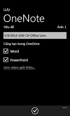 Gửi ảnh vào Word và PowerPoint trên OneDrive