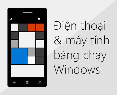 Bấm để thiết lập Office và email trên điện thoại chạy Windows