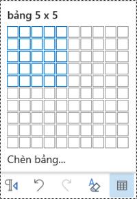 Lưới bảng trong Outlook trên web.