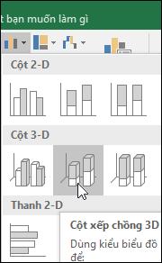 Cột xếp chồng dạng 3-D