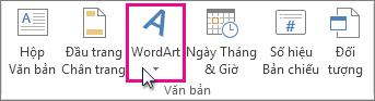 Bấm để thêm WordArt