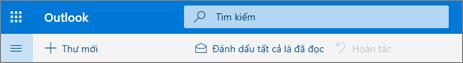 Ảnh chụp màn hình hiển thị hộp truy vấn Tìm kiếm trong Outlook.com.