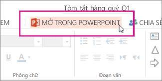 Mở bằng PowerPoint trên màn hình máy tính