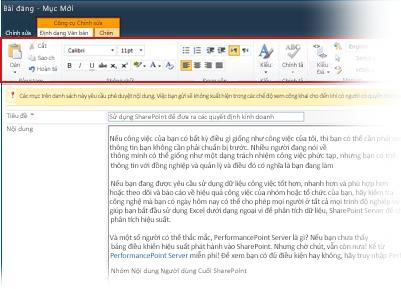 Trình soạn thảo văn bản có định dạng mới