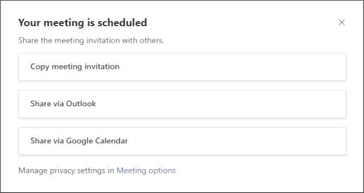 Màn hình cuộc họp của bạn đã được lên lịch