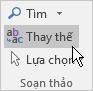 Trong Outlook, ở Định dạng văn bản, bên dưới Chỉnh sửa, chọn Thay thế.