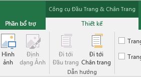 Khám phá thanh công cụ Thiết kế Excel