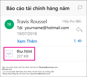 Trình xem OME cho Outlook for iOS 1