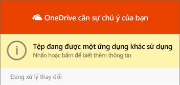 "Hộp thoại ""OneDrive"" trong sử dụng """