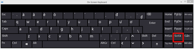 Bàn phím trên màn hình Windows 10 có Scroll Lock