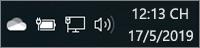 Biểu tượng trắng OneDrive trong khay hệ thống