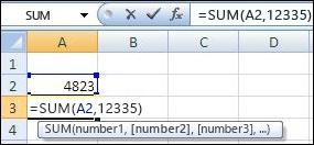 Sử dụng hàm SUM để cộng thêm một ô và một giá trị