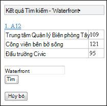 Kết quả tìm kiếm trong Trình xem Di động cho Excel