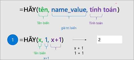Hiển thị hàm cho phép trong Excel