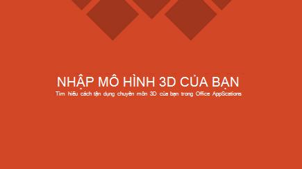 Ảnh chụp màn hình của một trang chiếu tiêu đề mẫu PowerPoint 3D