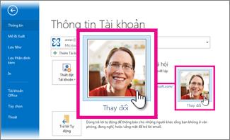 Thay đổi ảnh của tôi cho Office từ Outlook