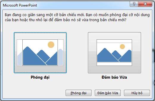 Nếu bạn chọn phóng đại, một số nội dung có thể nằm ngoài lề in, như bạn có thể thấy trong ảnh ở bên trái.