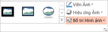 Hiển thị nút bố trí ảnh trên tab định dạng