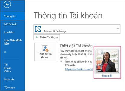 Nối kết thay đổi ảnh trong Outlook