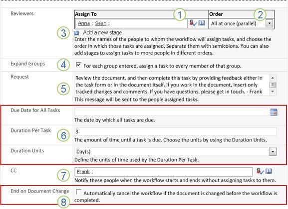 Trang thứ hai của biểu mẫu liên kết có khung chú thích được đánh số