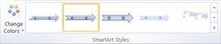 Nhóm Kiểu SmartArt trên tab Thiết kế bên dưới Công cụ SmartArt