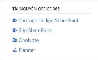Tài nguyên Office 365