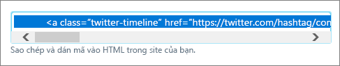 Tìm kiếm HTML mã Twitter