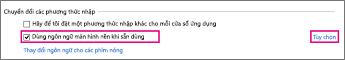 Chuyển đổi Phương pháp Nhập liệu trong Office 2016 trên Windows 8