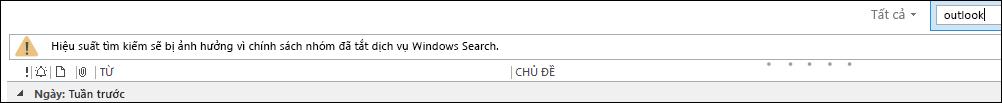 Đã vô hiệu hóa Tìm kiếm máy tính Windows