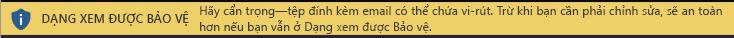Dạng xem được Bảo vệ cho tệp đính kèm email không đáng tin cậy