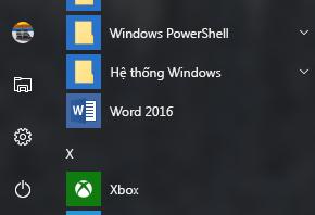 Ví dụ hiển thị lối tắt Word 2016: thiếu trong các lối tắt Office