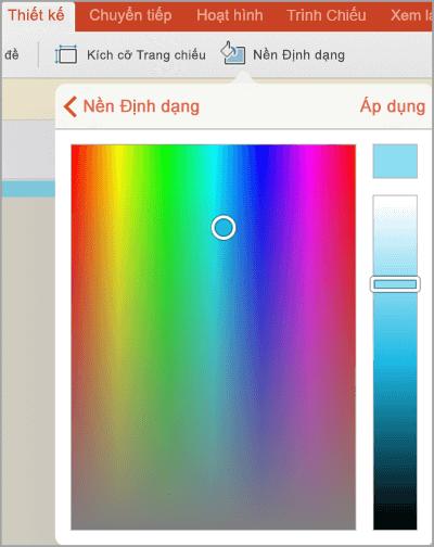 Tùy chỉnh nền màu
