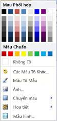 Tùy chọn tô hình WordArt trong Publisher 2010