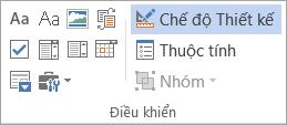 Điều khiển trên tab nhà phát triển