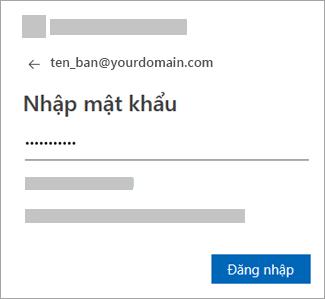 Nhập mật khẩu cho tài khoản email của bạn.