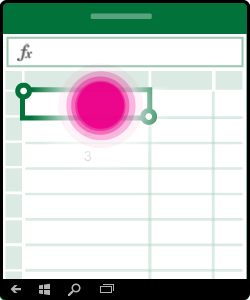 Hình cho thấy thao tác chọn và sửa trong ô