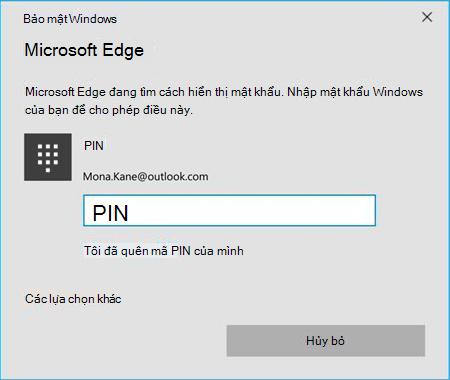 Đăng nhập vào hệ điều hành Access