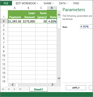 Việc nhập tham số trong ngăn sẽ sử dụng tham số trong ô D2