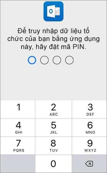 Đặt mã PIN để truy nhập dữ liệu của tổ chức