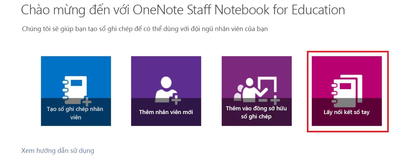 Lấy nối kết đến sổ ghi chép của bạn.