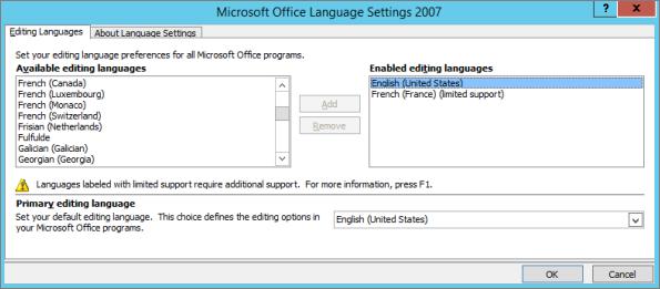 Cài đặt ngôn ngữ trong Office 2007
