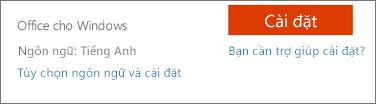 Tùy chọn ngôn ngữ và cài đặt cho Office 365