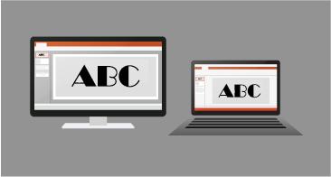Một bản trình bày đang được kết xuất trên PC và máy Mac, với hình thức giống nhau