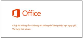 Vấn đề khi đăng nhập vào Tài khoản Microsoft của bạn