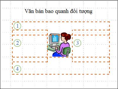 Bản chiếu với đối tượng, hộp văn bản hiển thị và được đánh số, không có văn bản.